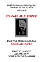Educare alle Regole, Giovedì 10 Aprile 2014